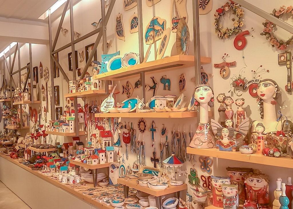 Compras em Nafplio - lojas de artesanato Grecia