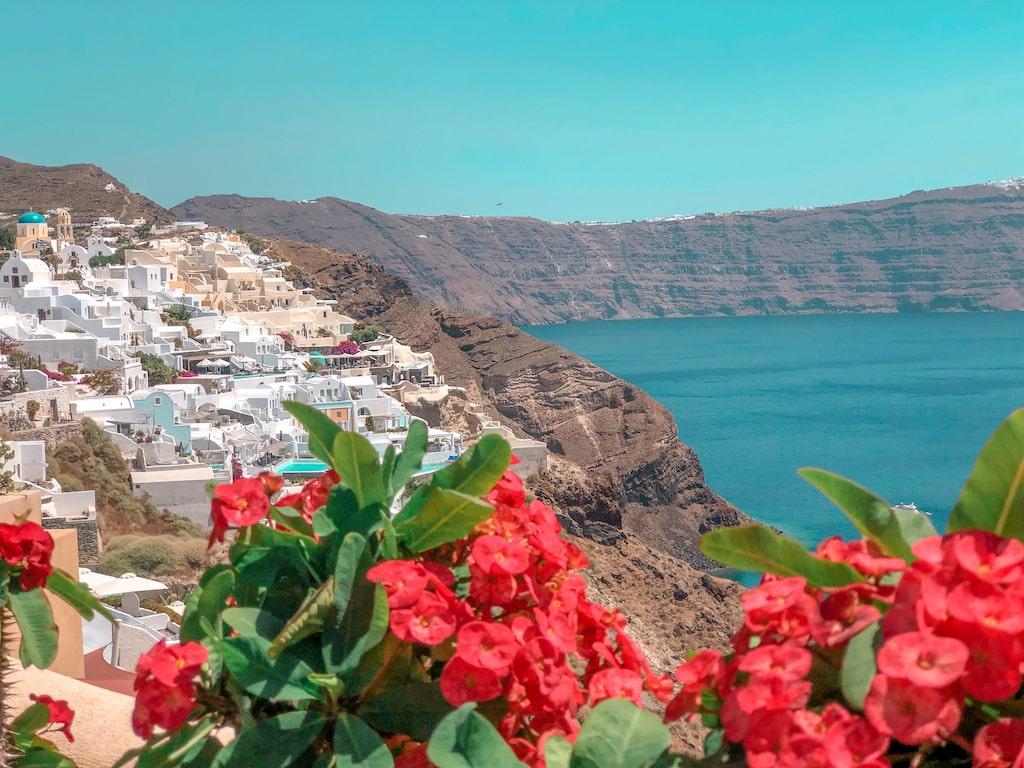 Santorini - Distancia entre as ilhas gregas