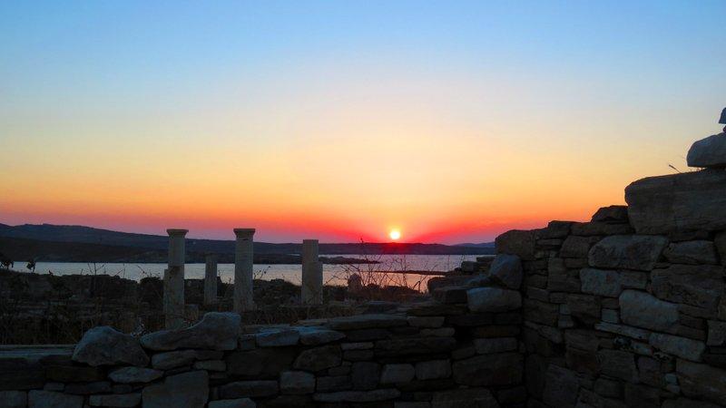 Pôr do Sol na Ilha de Delos