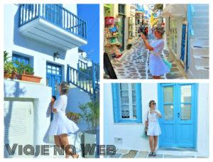 looks de viagem para usar na Grécia - Para passear em Chora no centro de Mýkonos