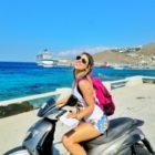 Alugando moto em Mykonos