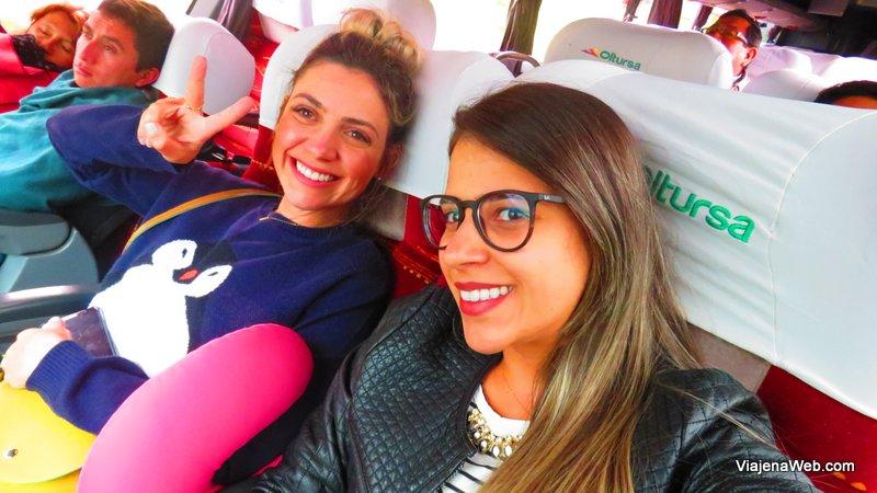 ônibus voltando de Huaraz