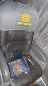 Dentro do ônibus indo para Huaraz