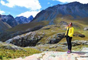 Vista do almoço oferecido no passeio ao Glacier Pastoruri