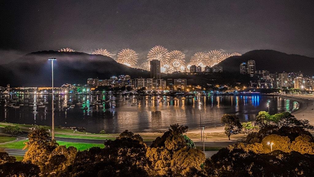 reveillon de Copacabana Vista de Botafogo