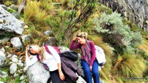 Cansadas de fazer trilha - Laguna 69