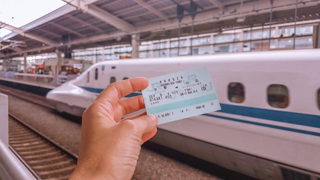 Viagem de trem no Japao com JR pass