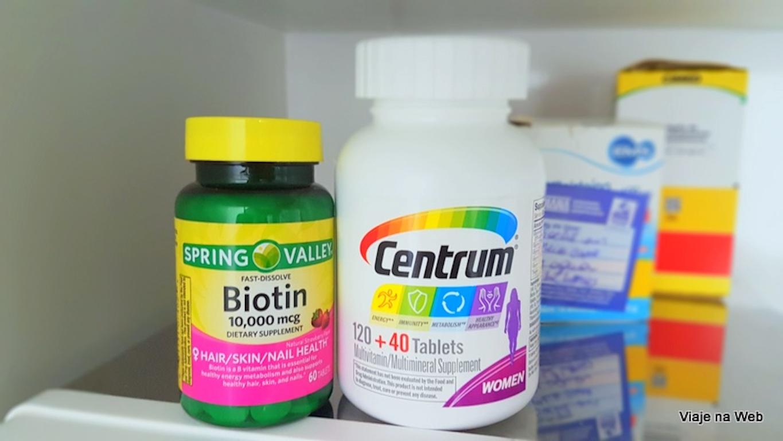 Compras nos Estados Unidos - Vitaminas e Centrum