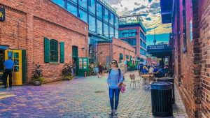 Bairro Distillery District em Toronto