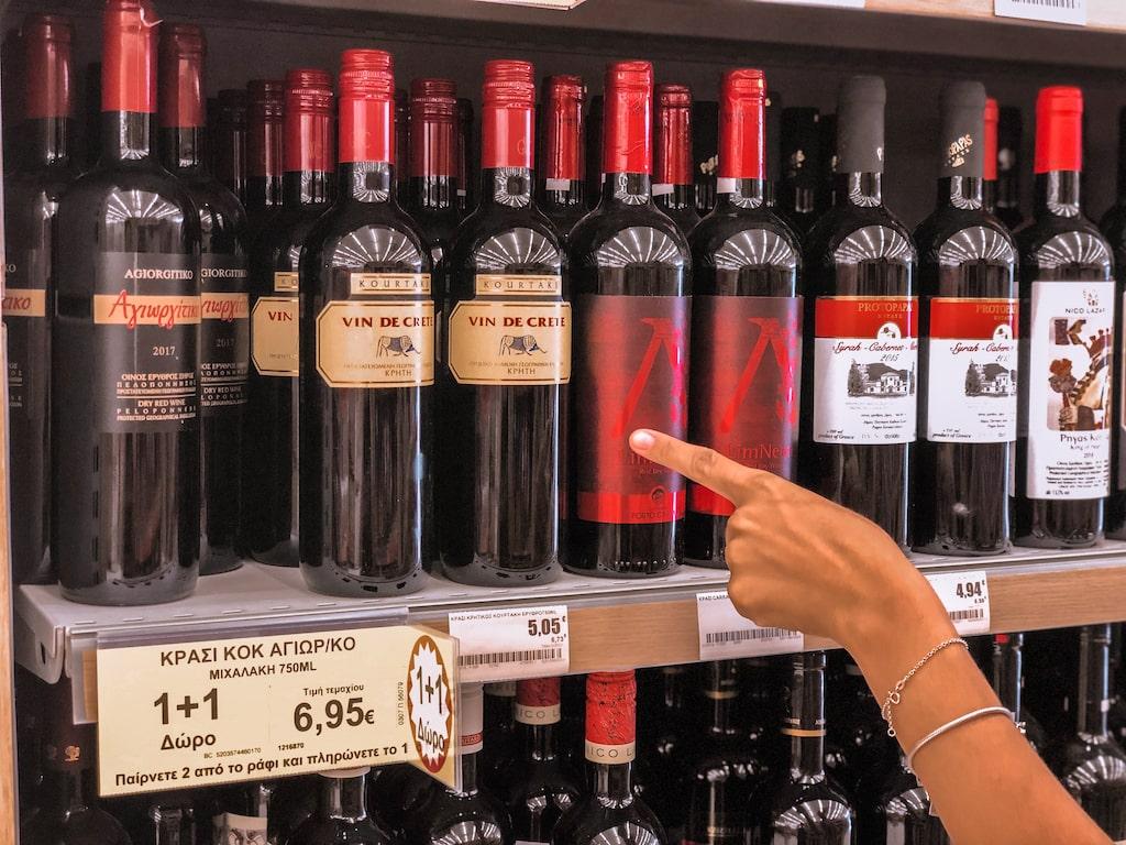 Preço no vinho na Grécia